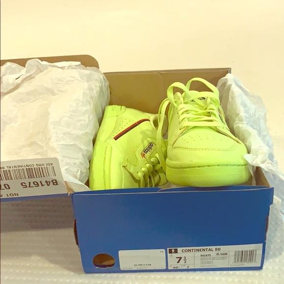 Adidas Continental 8 Neon Green 75 Men